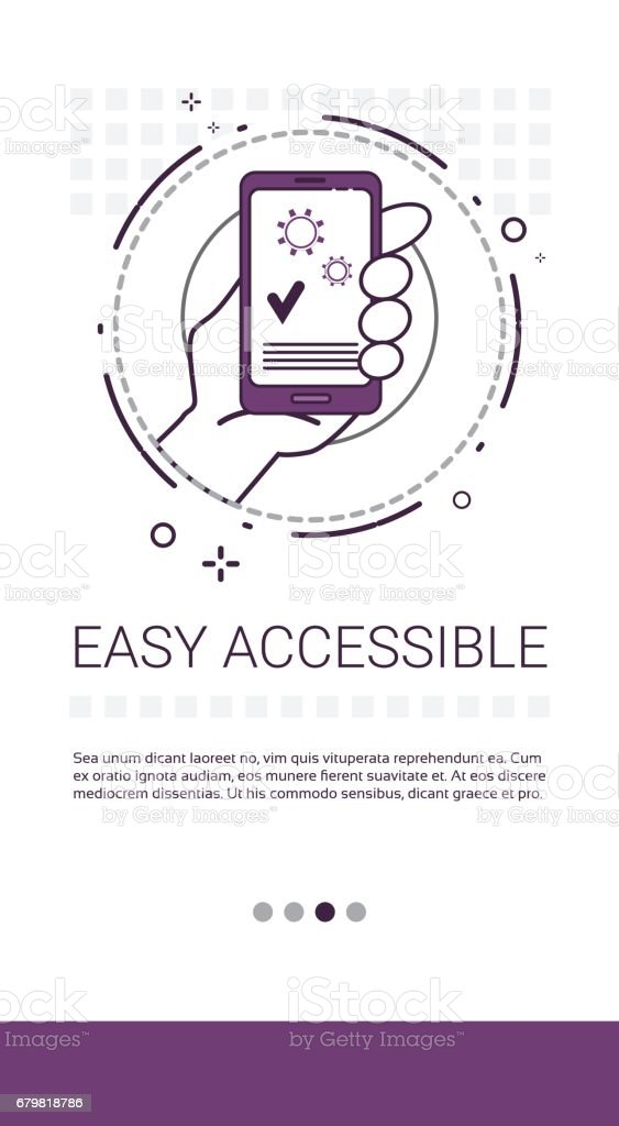 Cell Smart Phone Successful Tick Confirm Operation Complete Banner vector art illustration