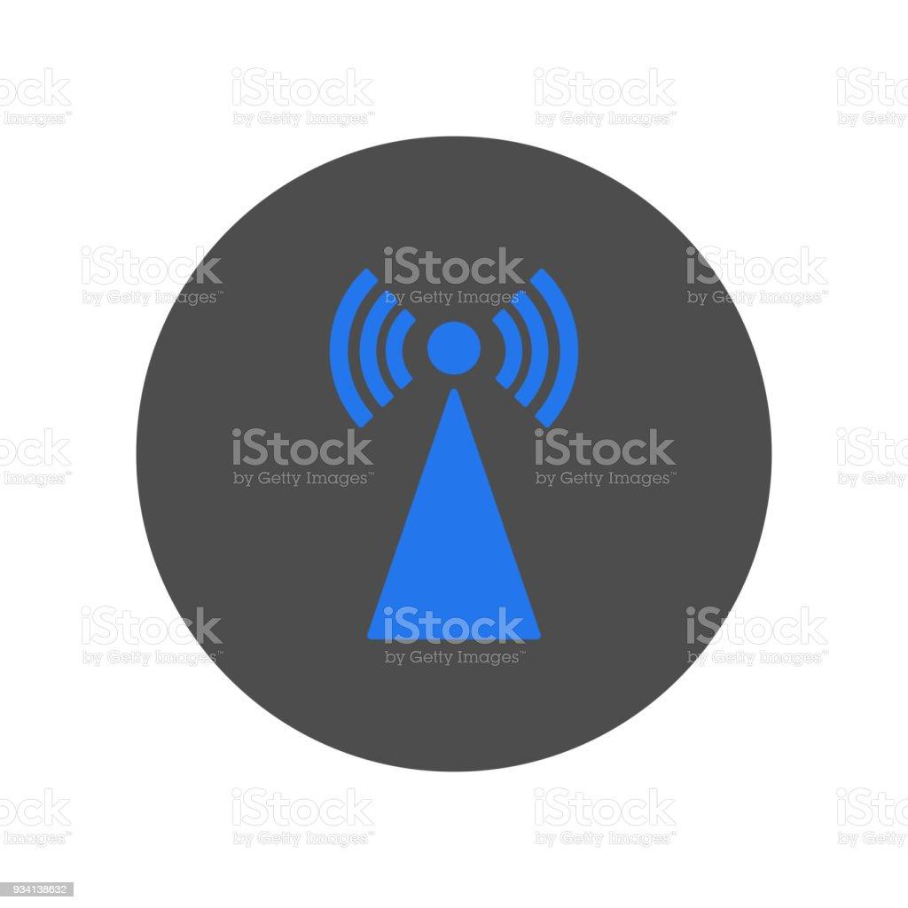 Zelle Turm Symbol Vektor Stock Vektor Art und mehr Bilder von Blau ...