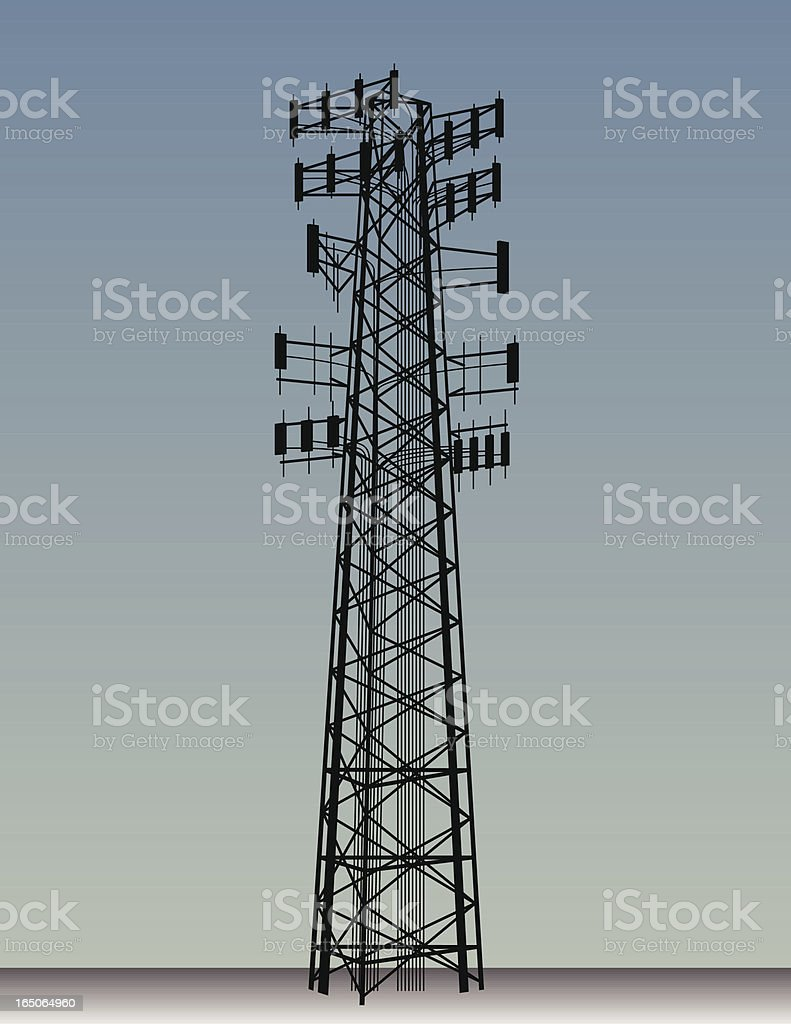 Cell Tower royalty-free stock vector art