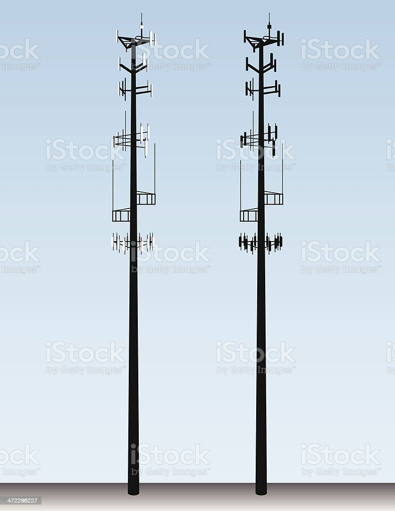 Cell Tower Vector vector art illustration