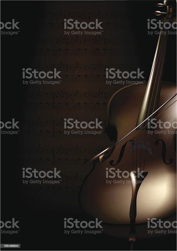 Cello Brown Single royalty-free stock vector art