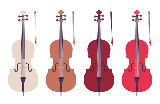 Cello double bass, symphony orchestra bowed string instrument