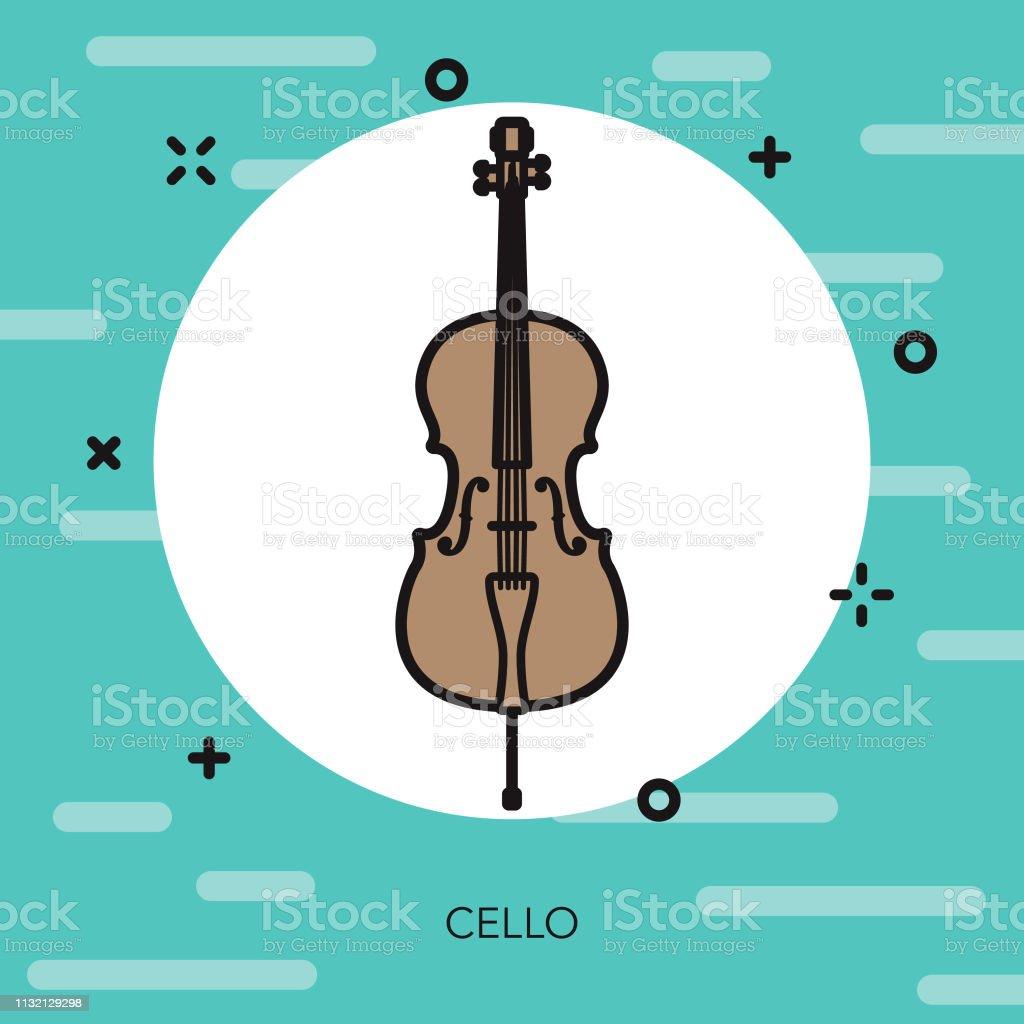 Ilustracion De Icono Del Instrumento Musical Cello Y Mas
