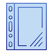 Cellophane file color icon. Document plastic transparent bag symbol, gradient style pictogram on white background. Office or stationery sign for mobile concept and web design. Vector graphics