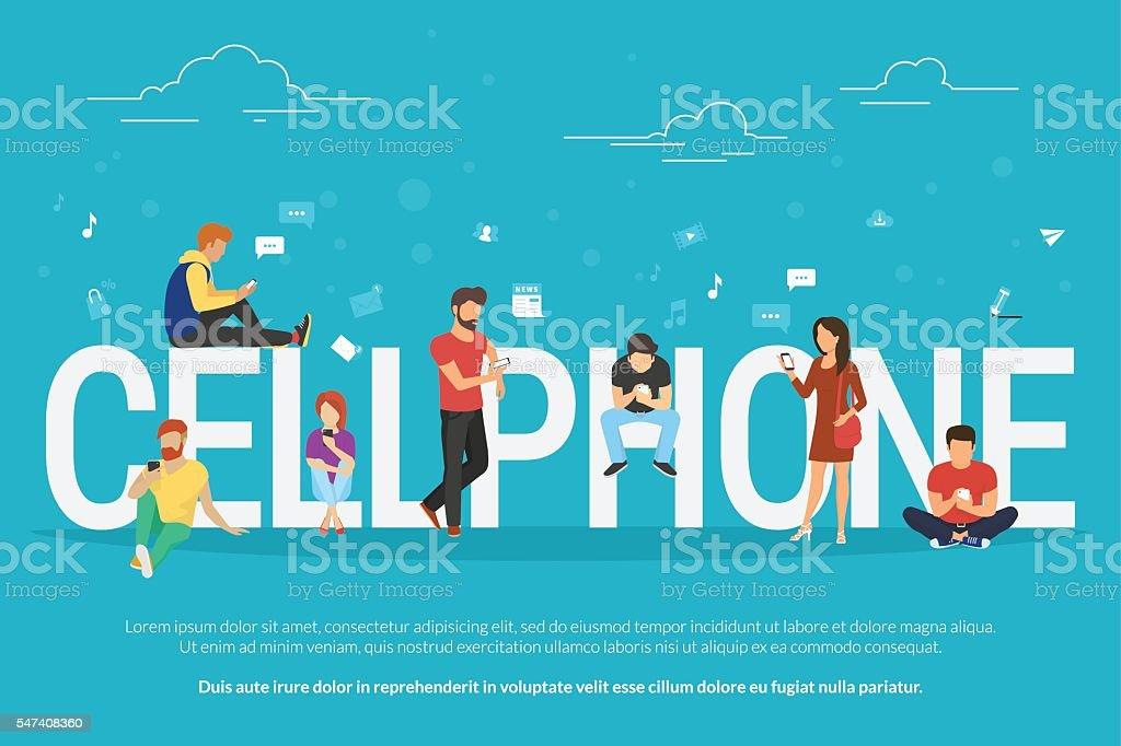 Cellphone concept illustration vector art illustration