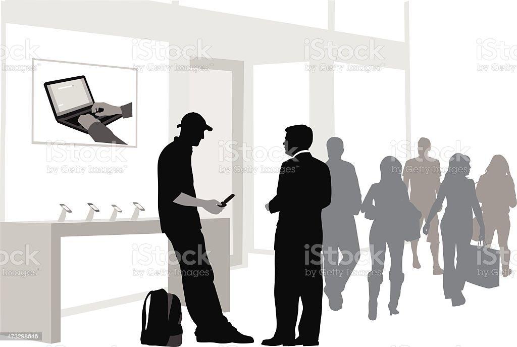 Cellphone Mobility vector art illustration