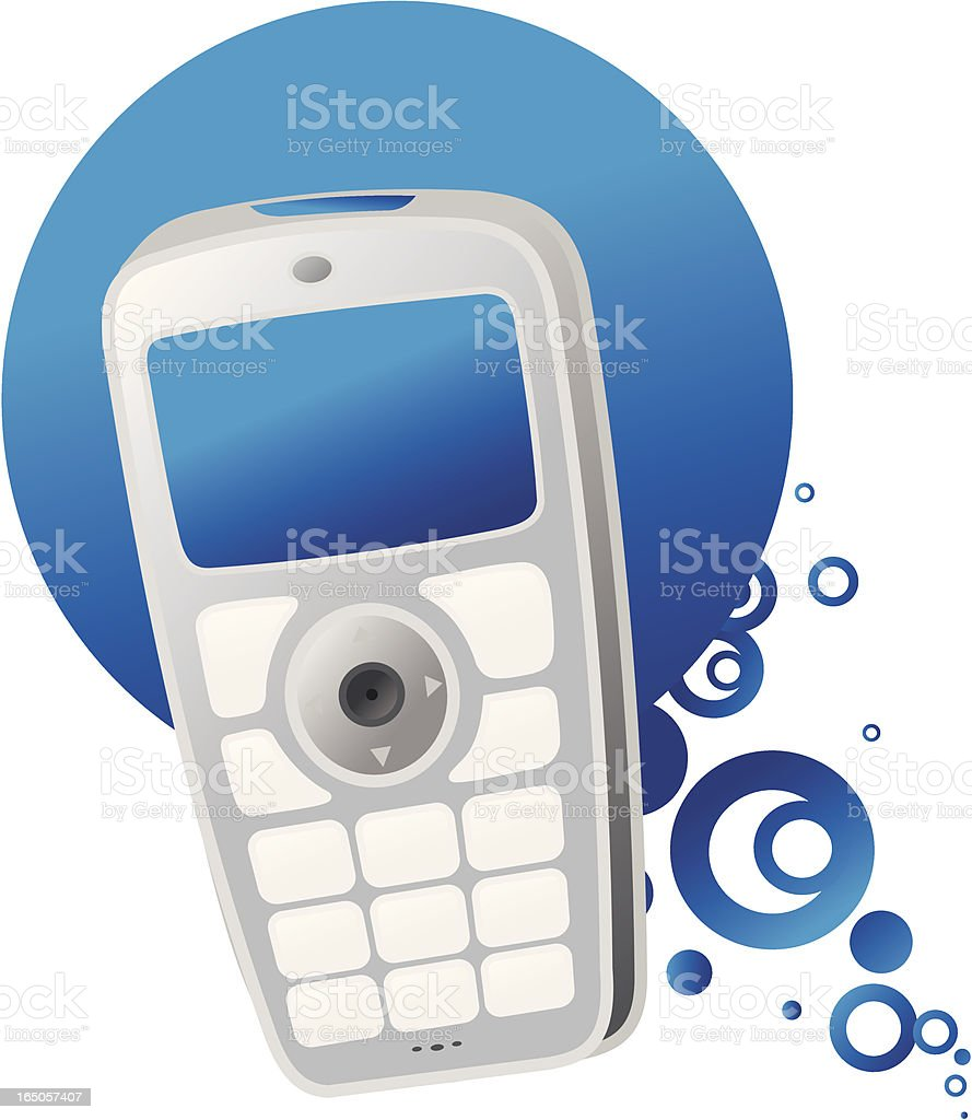cellphone moves - blue royalty-free stock vector art