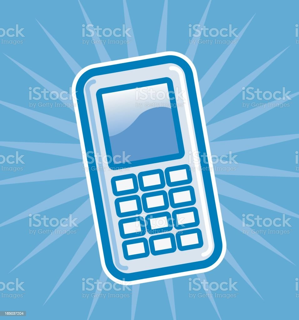cellphone royalty-free cellphone stock vector art & more images of blue