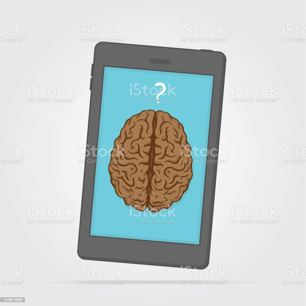 Akıllı cep telefonu vektör sanat illüstrasyonu