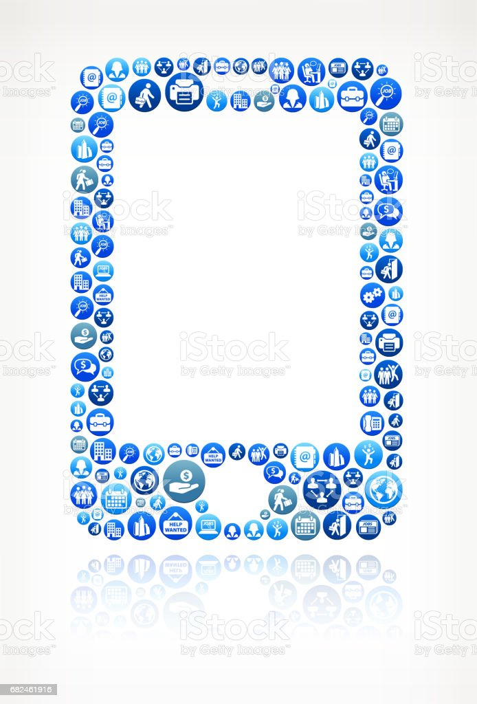 Cellphone Work and Employment Blue Vector Button Pattern royalty-free cellphone work and employment blue vector button pattern stock vector art & more images of adult