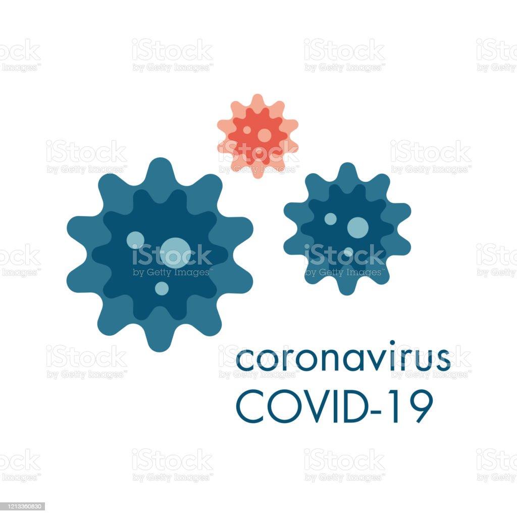 Zellen eines Coronavirus, das in der Luft fliegt. Die globale Epidemie COVID-19. - Lizenzfrei Abgerissen Vektorgrafik