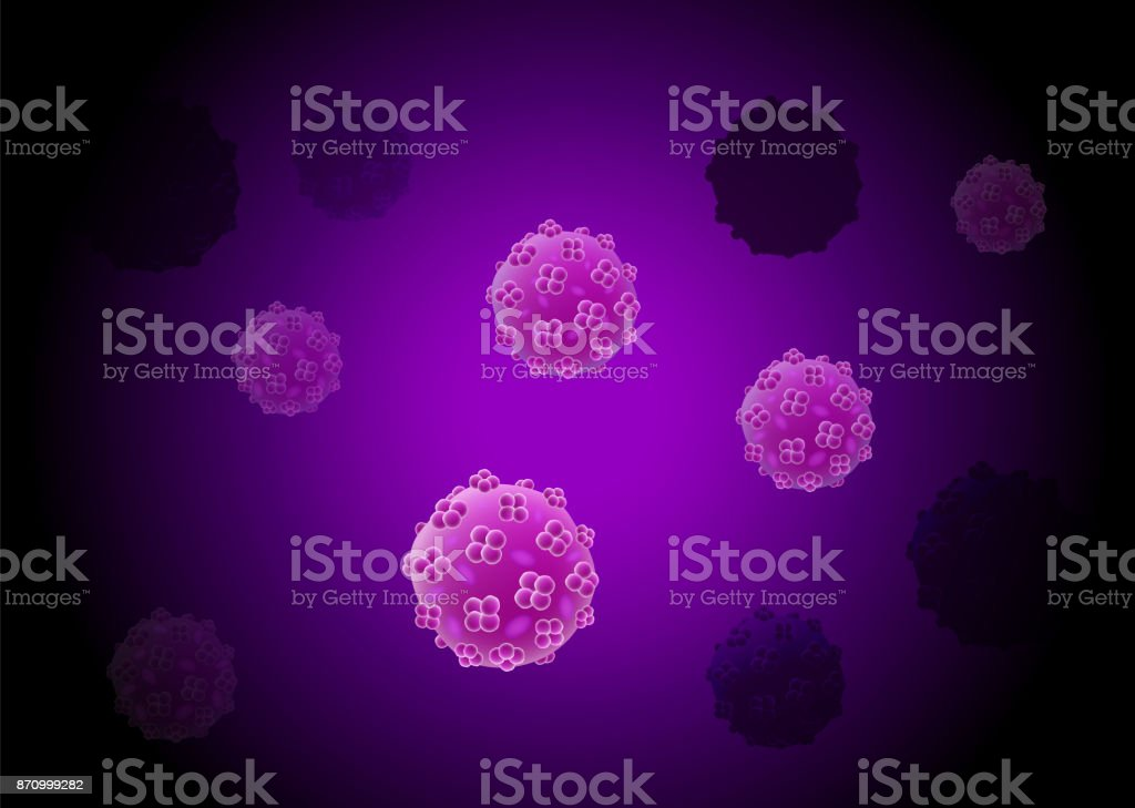 Cells virus culture background with cell division and nucleus. vector art illustration