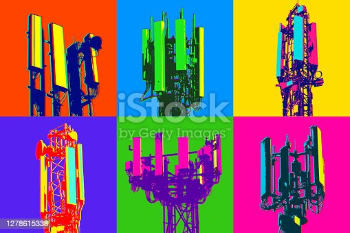 istock Cellular communications tower for mobile phone 1278615338