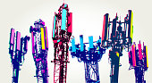 istock Cellular communications tower for mobile phone 1278615344