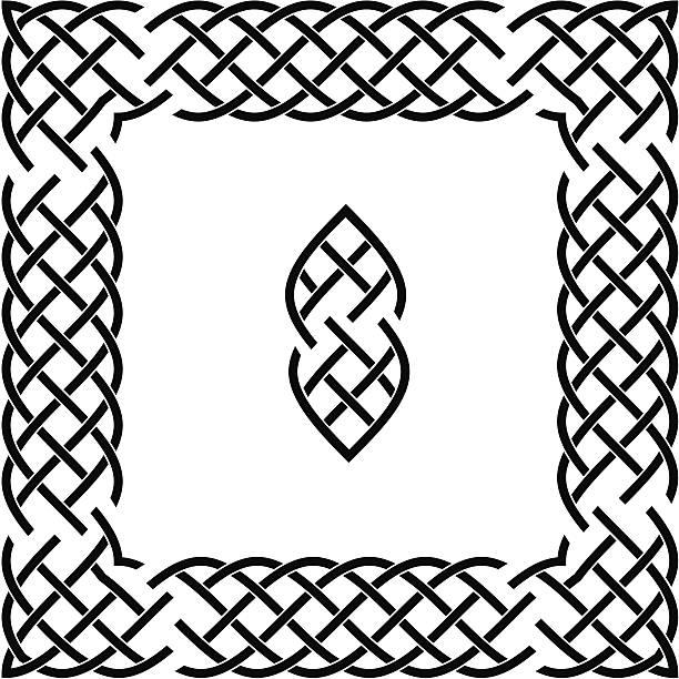 Celtic Border Art Set (vector & jpeg) vector art illustration