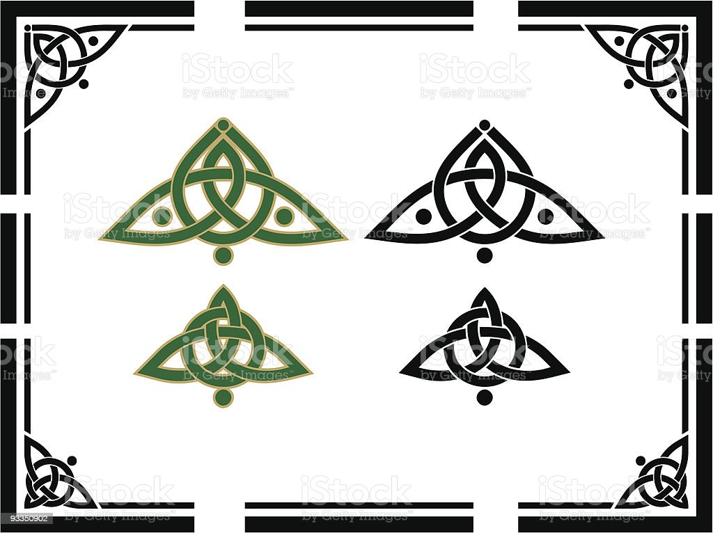 Celtic Corner Designs vector art illustration