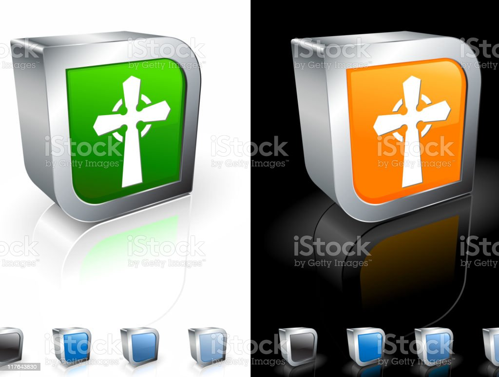 Celtic cross 3D royalty free vector art royalty-free stock vector art