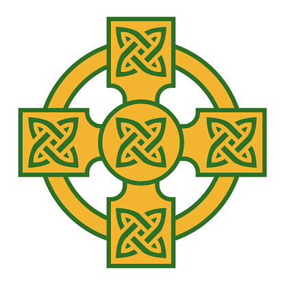Celtic Cross Icon on Transparent Background