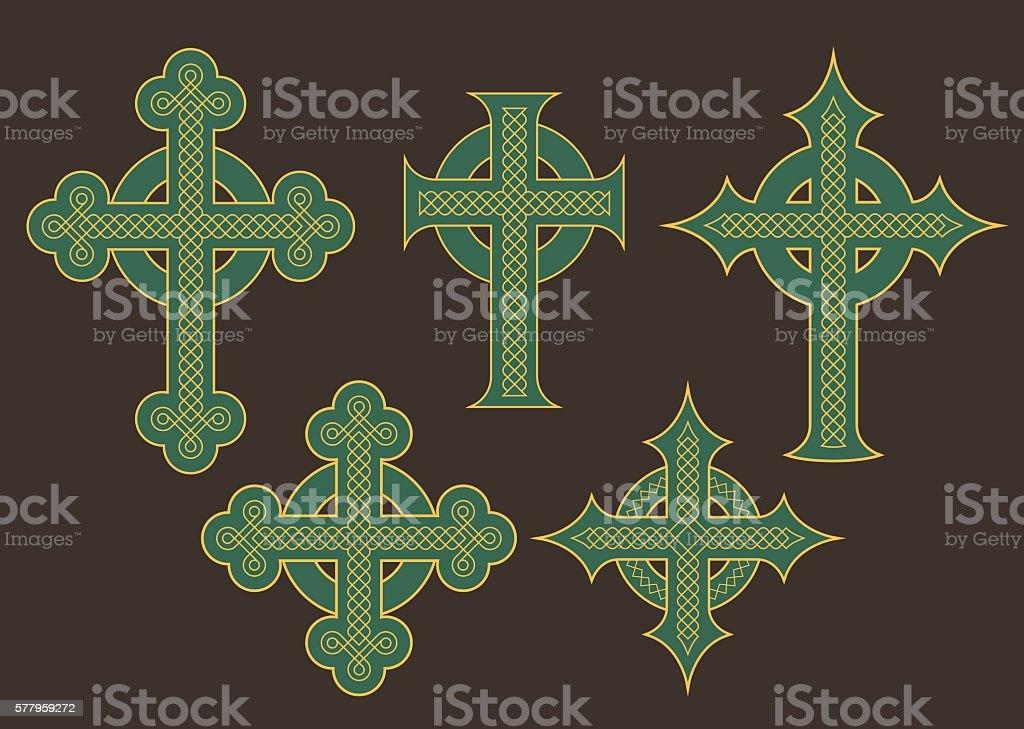Celtic Cross Vector Designs vector art illustration