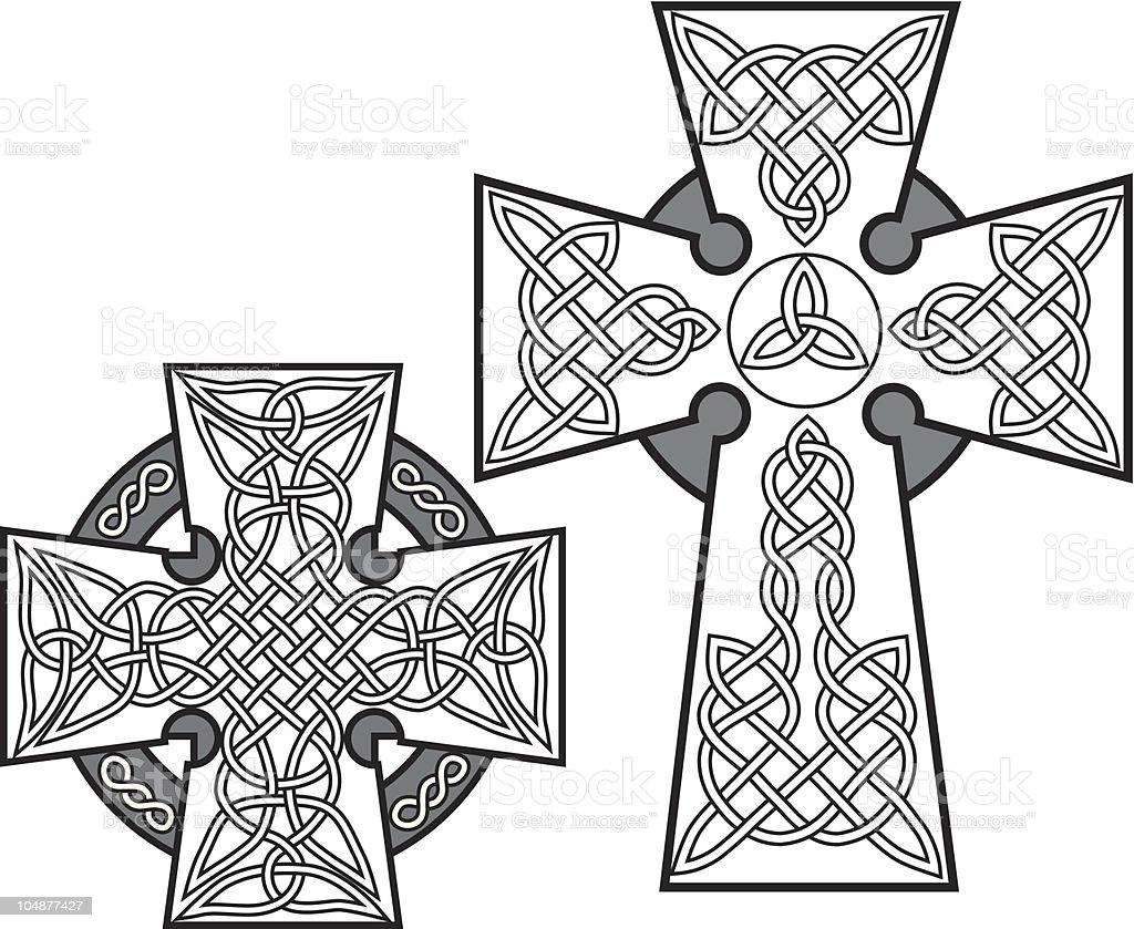 Celtic Crosses (Vector) vector art illustration
