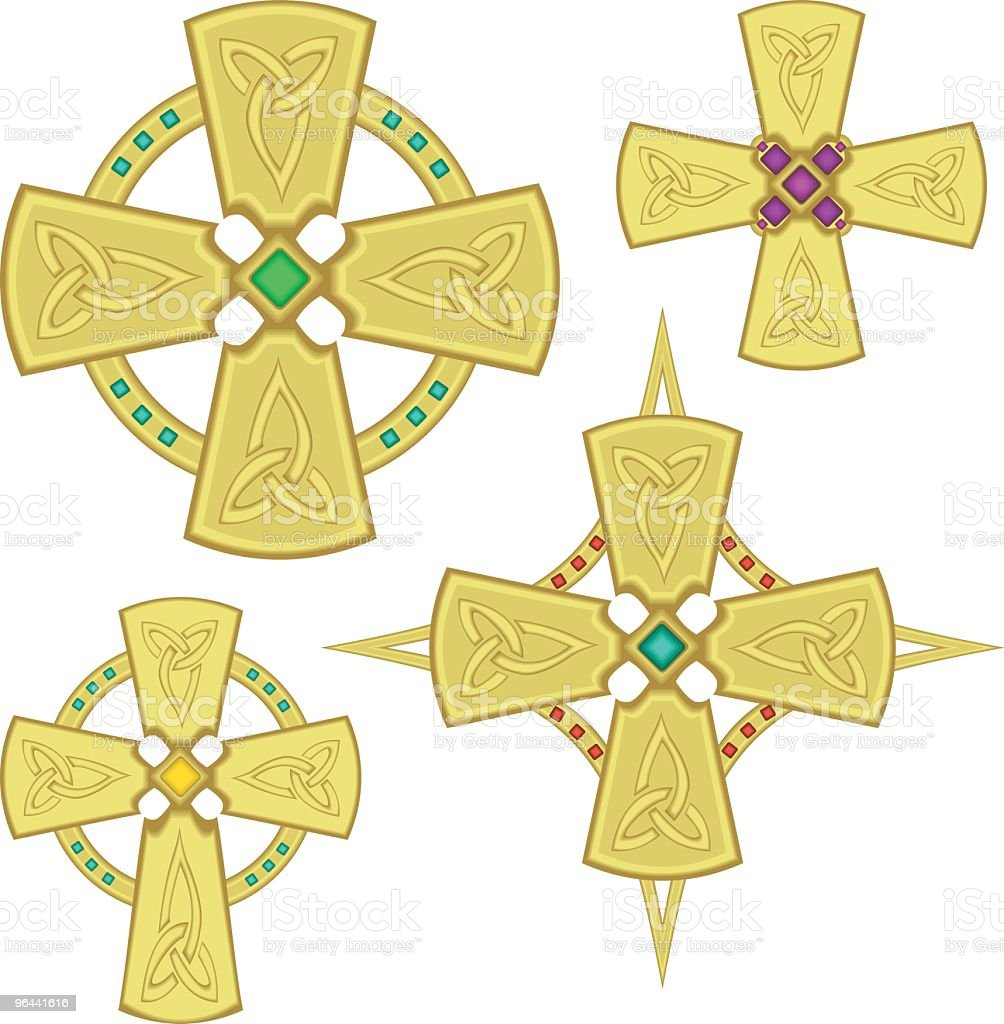 Celtic Crosses - Royalty-free Amethyst stock vector