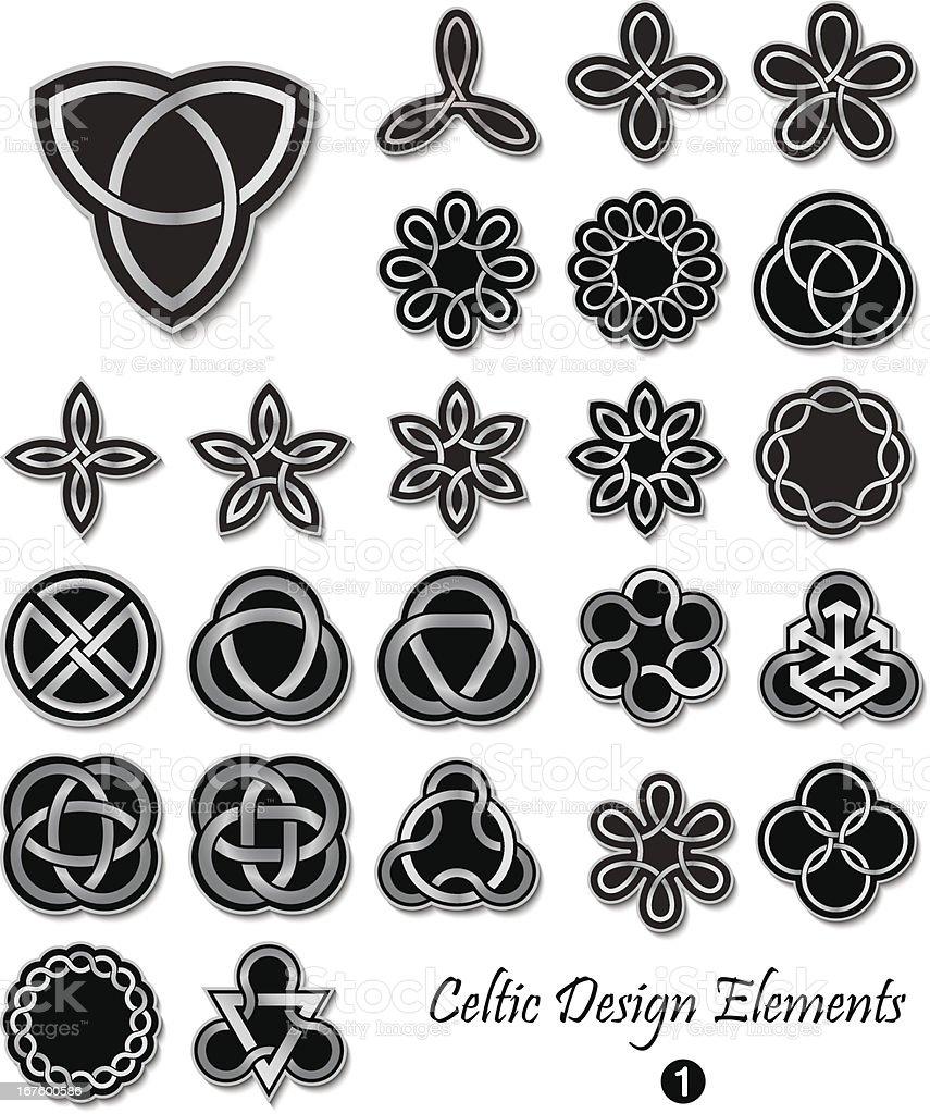 Celtic Design Elements royalty-free stock vector art