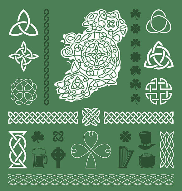 Celtic Design Elements Collection of celtic / irish vector design elements celtic knot stock illustrations
