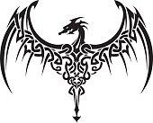 Celtic Dragon Wings Tattoo
