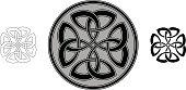 Celtic four trinity clover (Infinity knot variation n° 4)