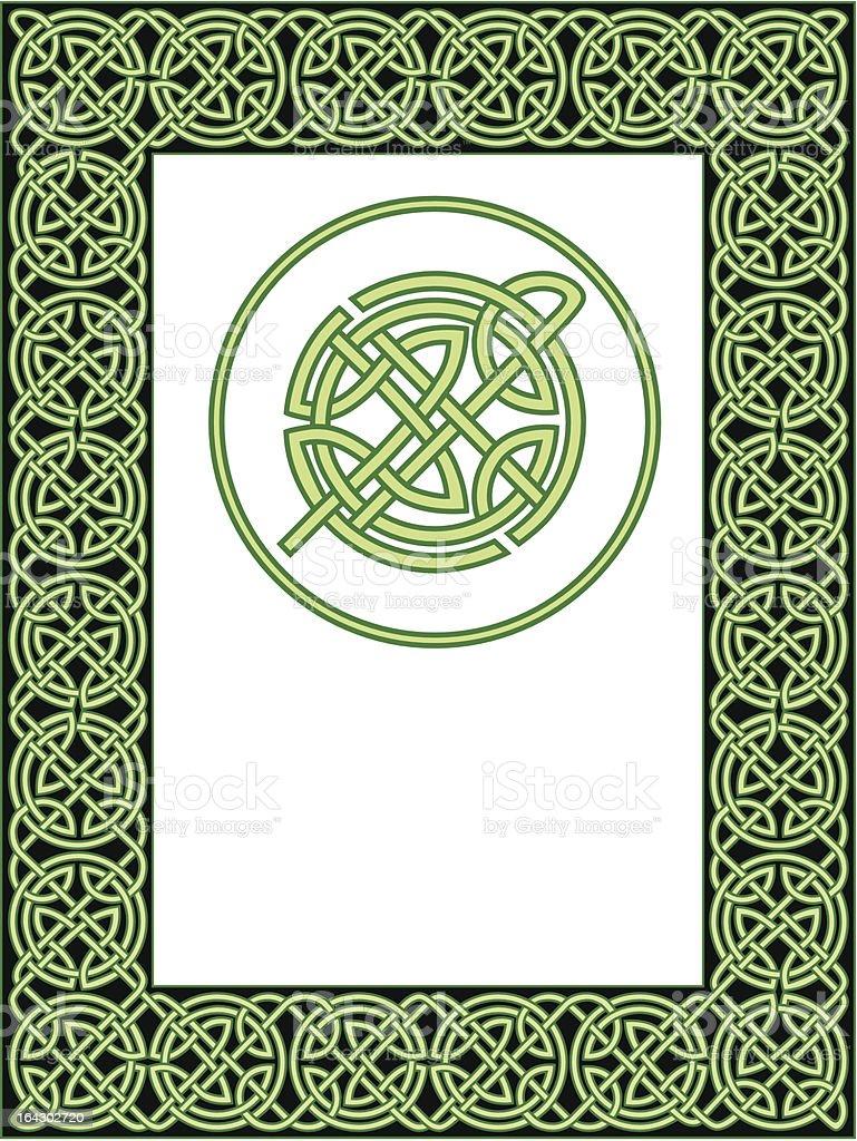 Celtic frame pattern royalty-free stock vector art