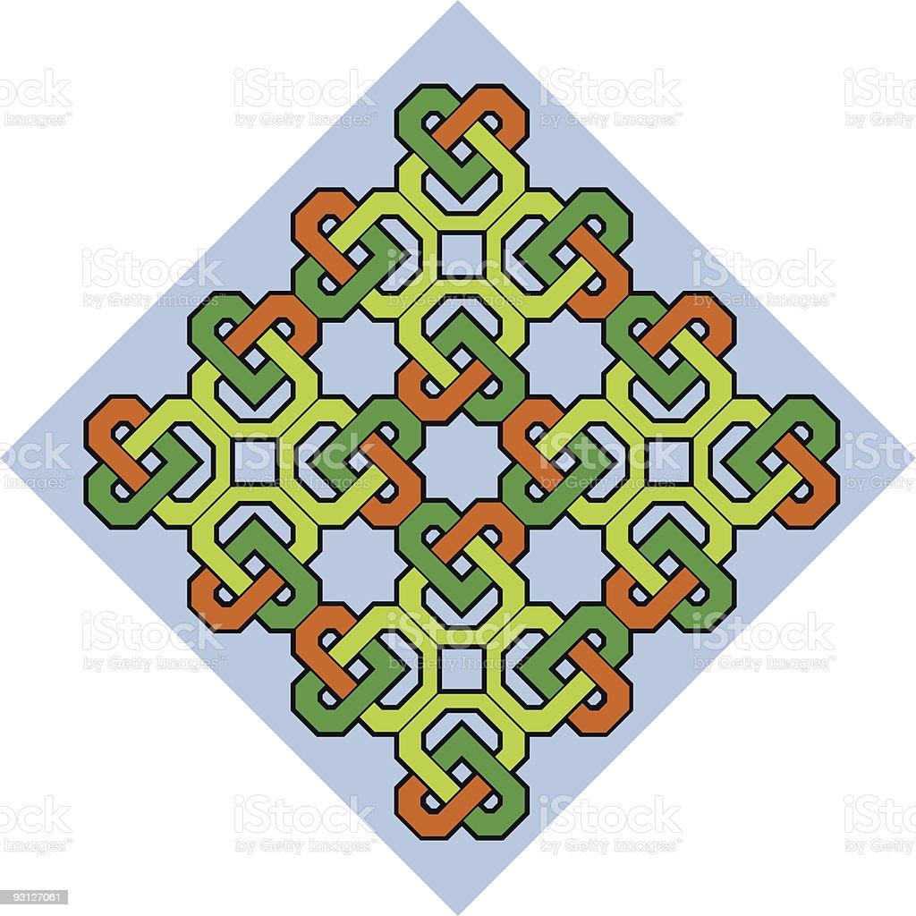 Celtic Heart Design royalty-free stock vector art
