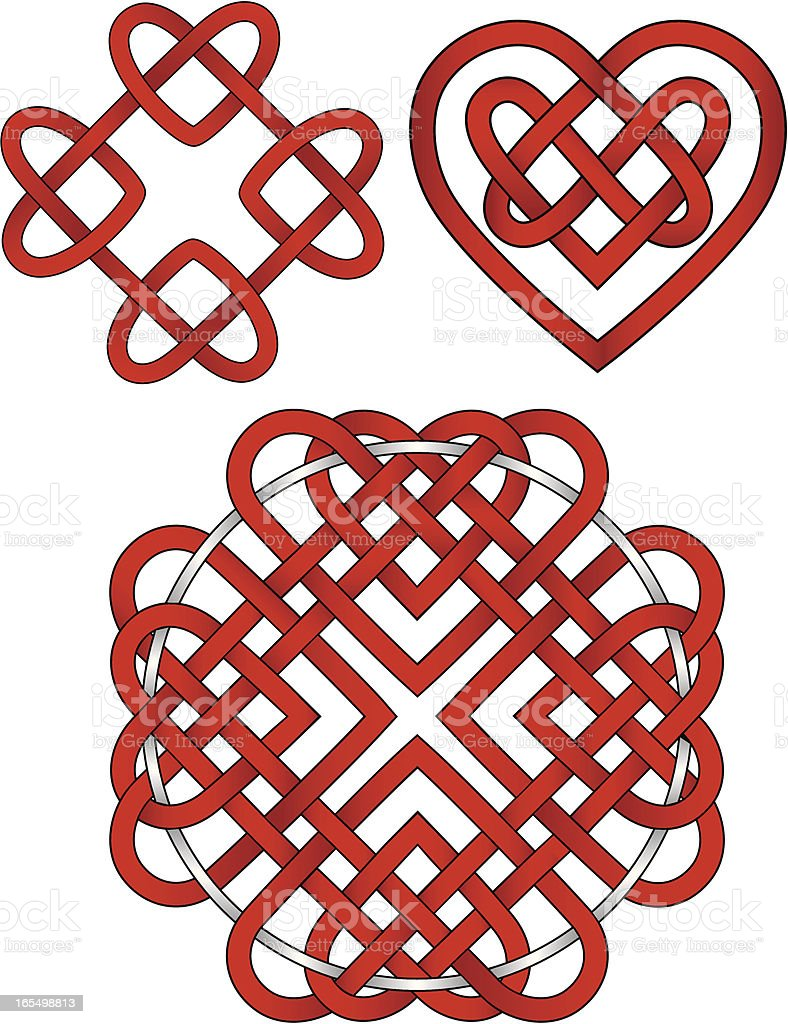 Celtic Heart Knots royalty-free stock vector art