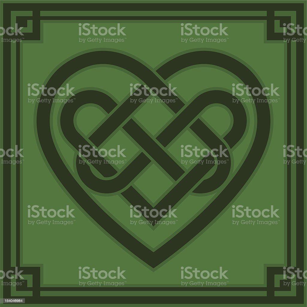Celtic Heart royalty-free stock vector art