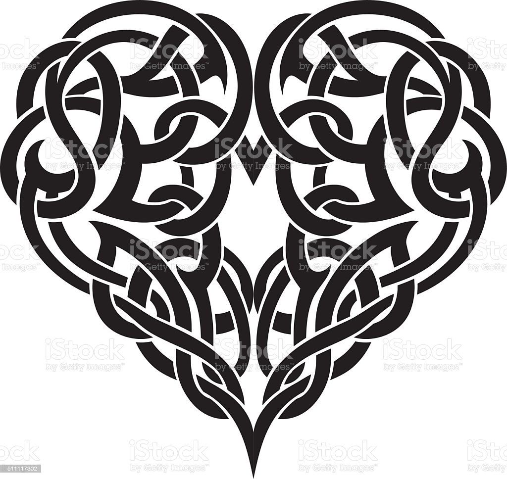 Celtic Heart vector art illustration