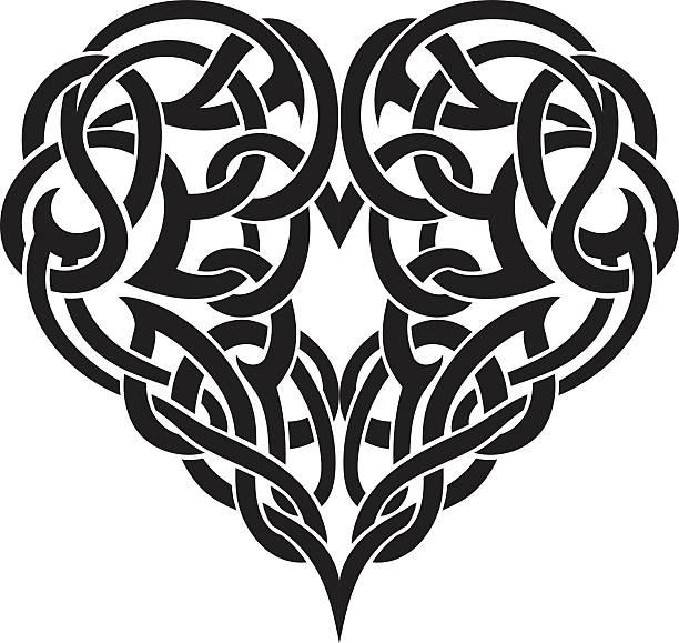 illustrations, cliparts, dessins animés et icônes de celtic coeur - tatouages celtiques