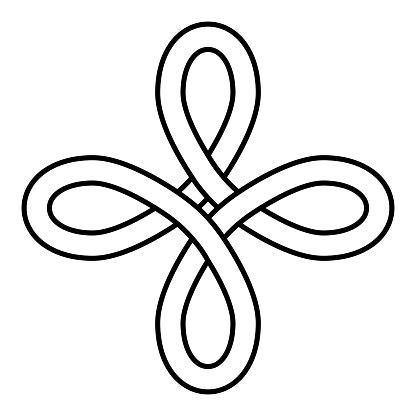 Celtic Heraldic Knot Bowen Symbol vector Bowen Cross true Lovers Knot