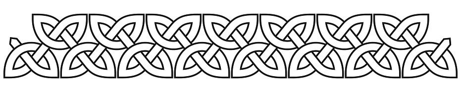 Celtic knot border clip-art