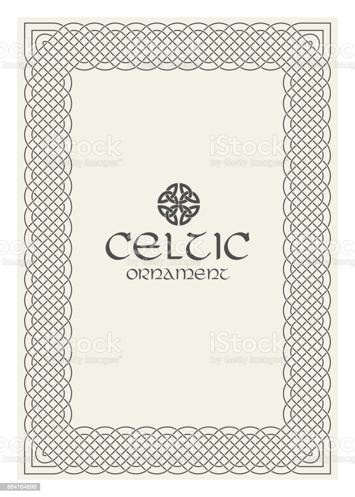 Celtic knot braided frame border ornament. A4 size royalty-free celtic knot braided frame border ornament a4 size stock vector art & more images of abstract