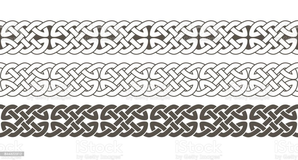 ケルト族の結び目は、フレーム枠飾りを編みこみ。 ベクターアートイラスト