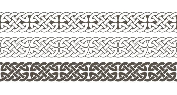 Celtic knot braided frame border ornament. Celtic knot braided frame border ornament. Vector illustration. celtic knot stock illustrations