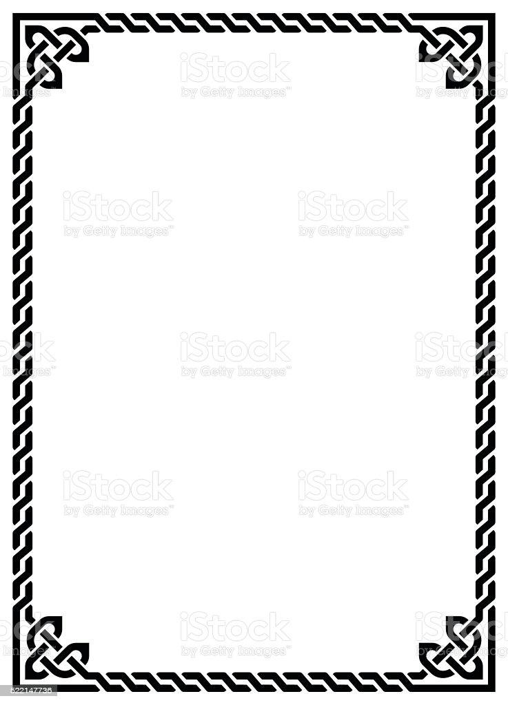 Celtic Knot Braided Frame Rectangle Stock Vector Art ...