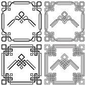 Celtic Knot Frames and Corners Set