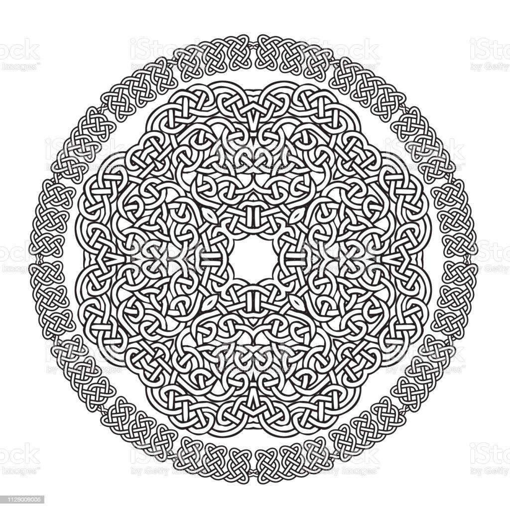 Celtic Knot Mandala vector art illustration