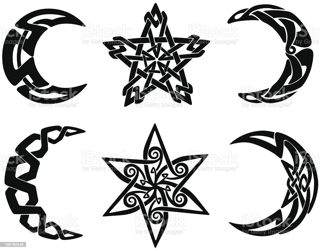 Celtic Knot Moons And Stars Stock Vector Art & More Images ...