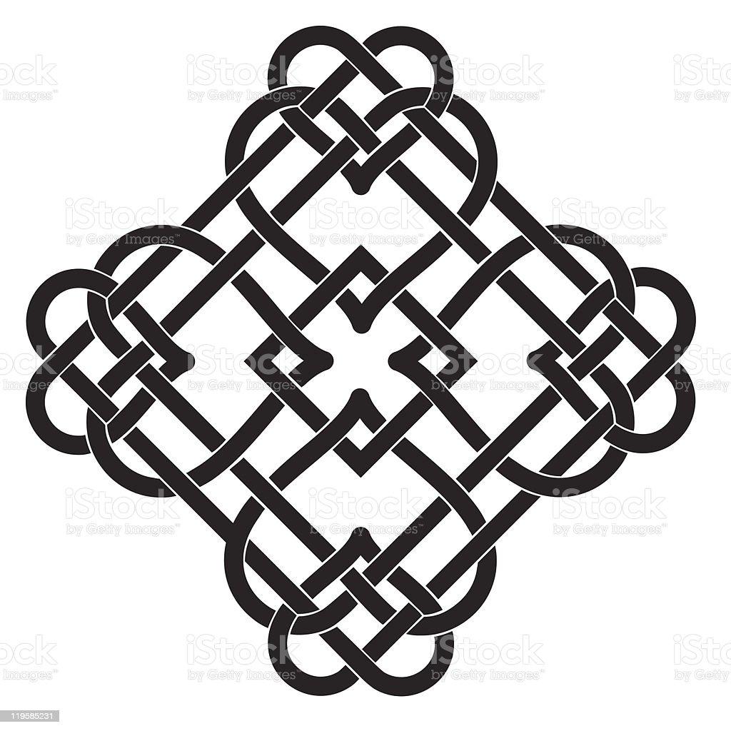 Celtic Knot Motif royalty-free stock vector art