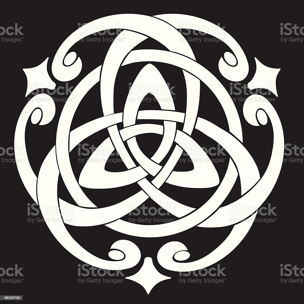 Celtic Knot Motif royalty-free stock vector art