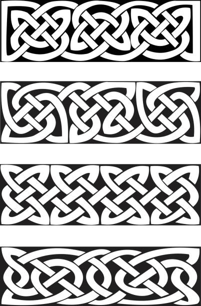 Celtic Knot Motifs (vector) Celtic knot motifs. vector. celtic knot stock illustrations