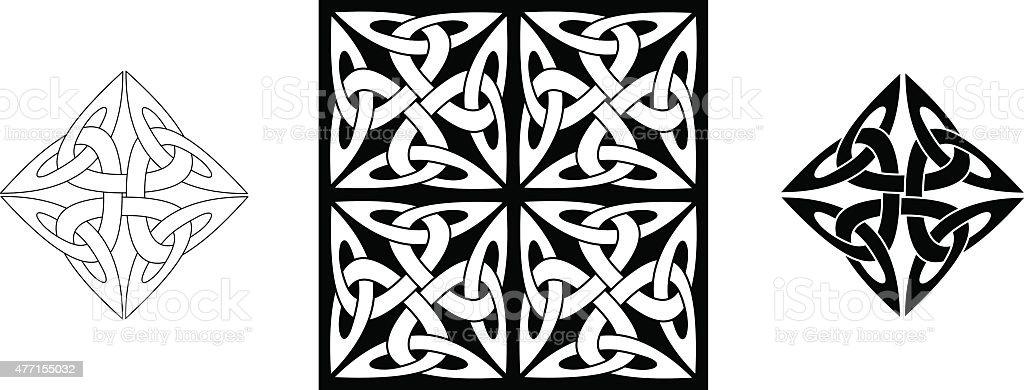 Ilustración de Nudo Celta Adorno Infinito Nudo Variación N De 3 y ...