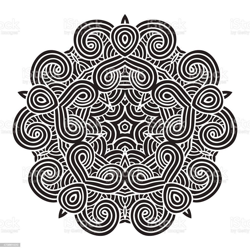 celtic knot pattern card, mandala, amulet vector art illustration