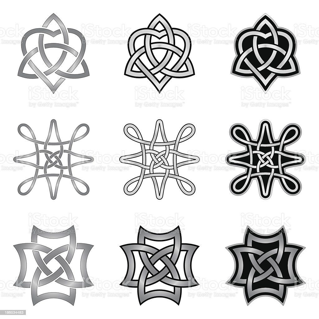 Celtic Knot Patterns And Templates Stock Vector Art More Images Of